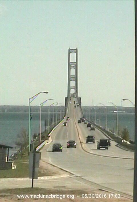 Bridge Camera View - Mackinac Bridge Authority
