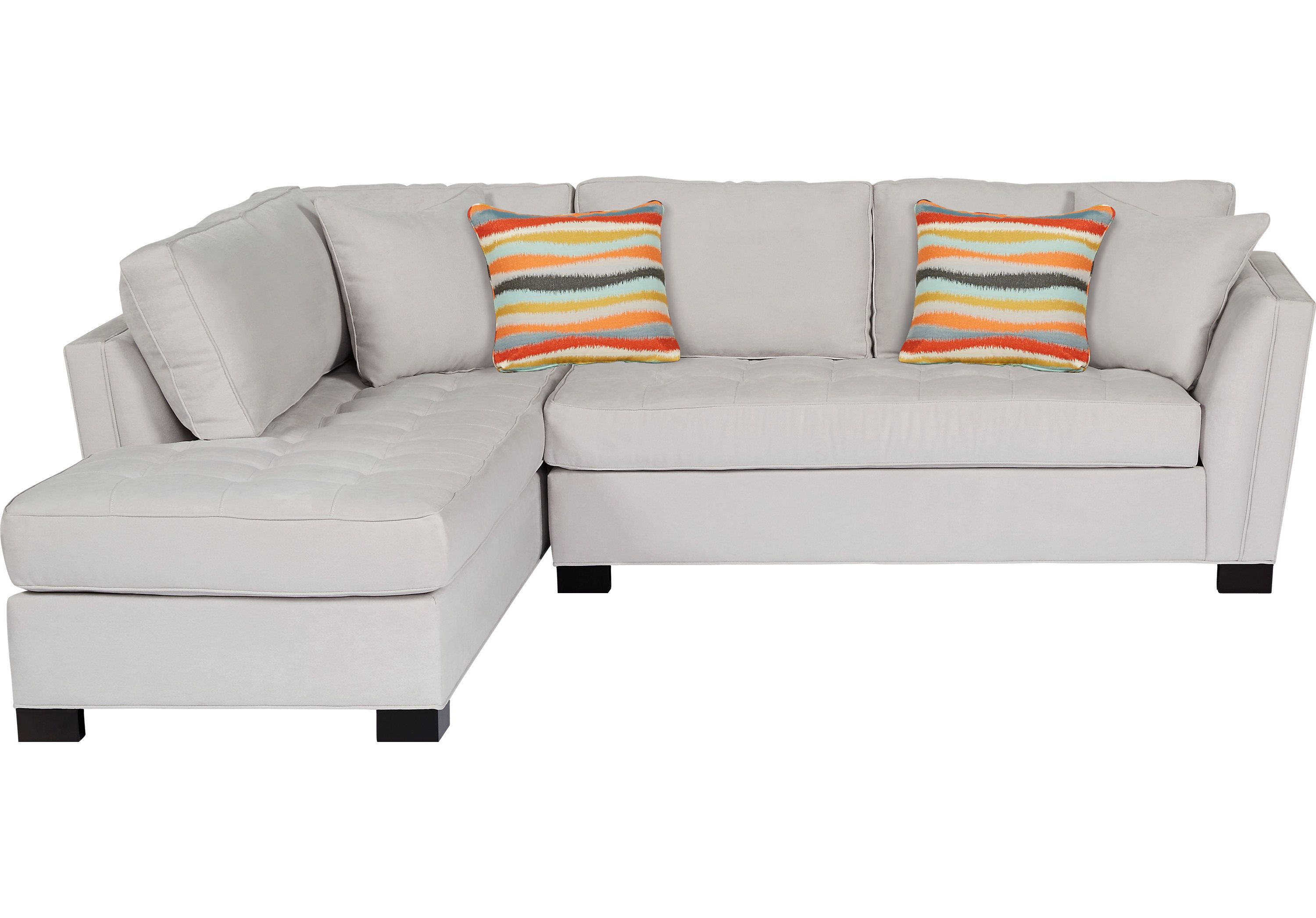 Cindy Crawford Home Calvin Heights Platinum 2 Pc Sectional | Cindy ...