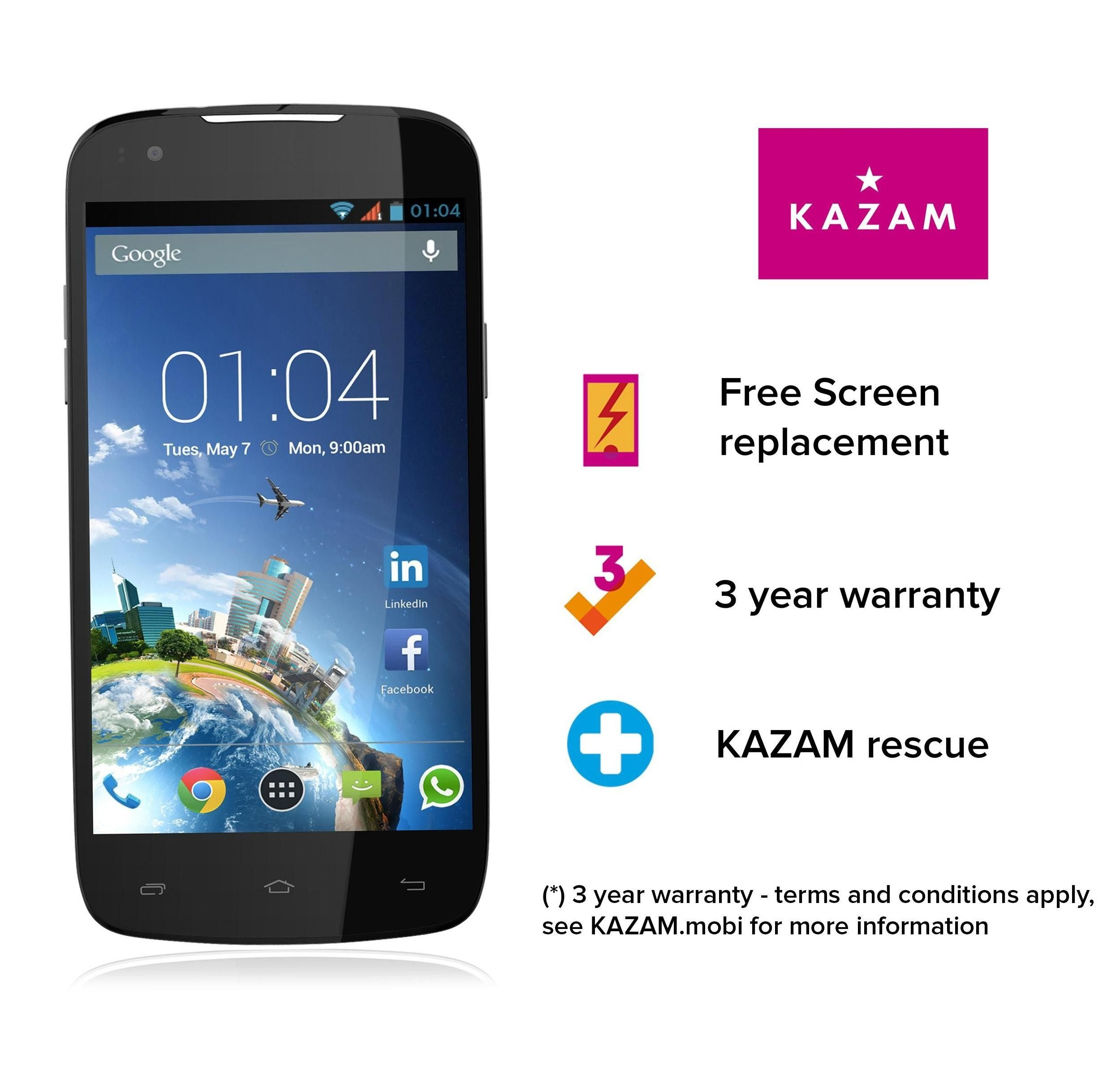 Buy KAZAM Thunder Q4.5 Android Smartphone Connect with