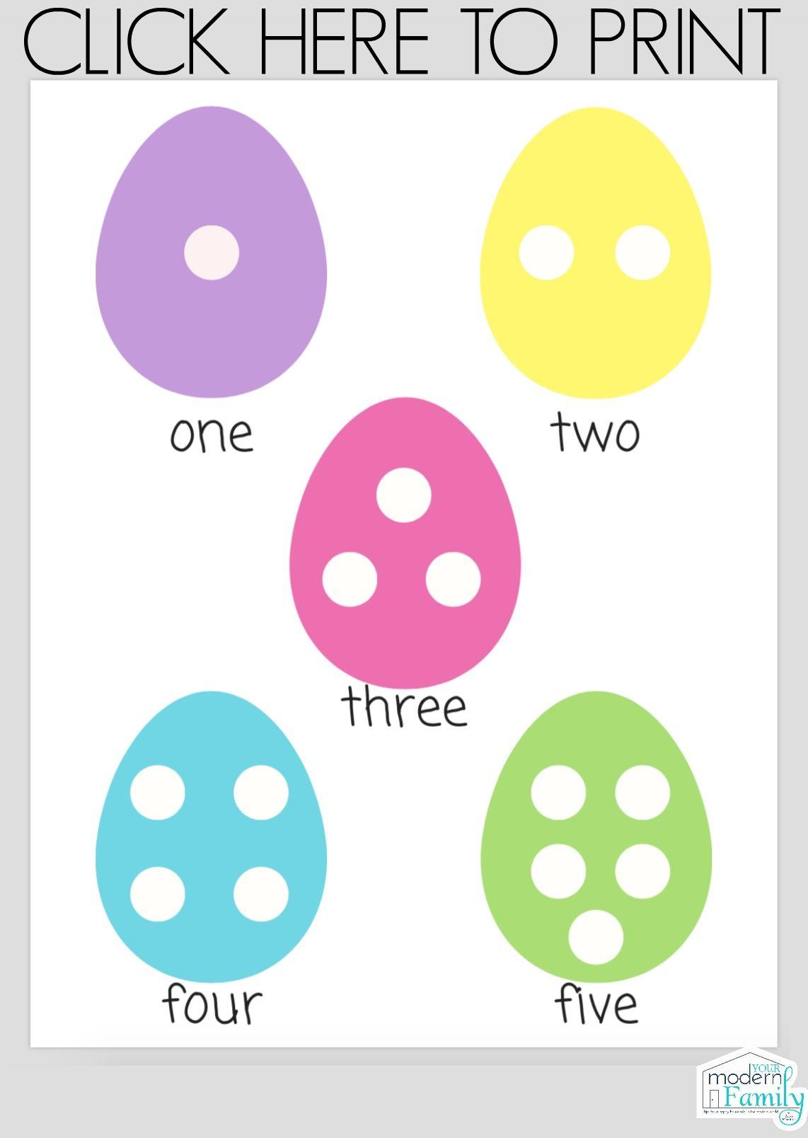 Easter Worksheets For Preschoolers Or Kindergarteners