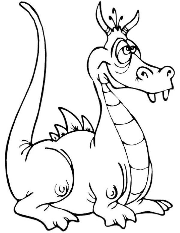 Dragon, : Wacky Dragon Coloring Page | Graphic Design - Dragon ...