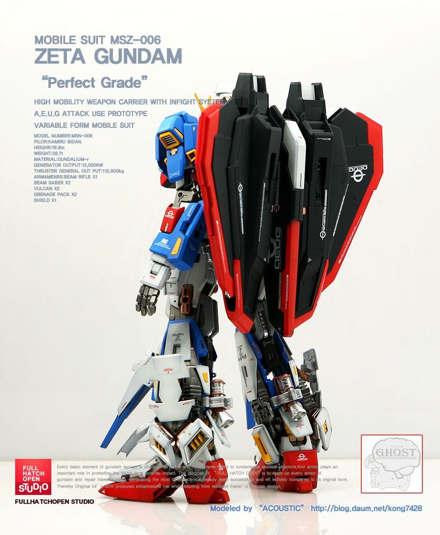 GUNDAM GUY: PG 1/60 Zeta Gundam [Open Hatch] - Custom Build | Gundam ...