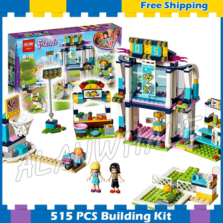 515pcs Friends Heartlake Stephanie S Sports Arena Vicky Tennis Court 01061 Model Building Blocks Gifts Sets Compatibl Blocks Gifts Sports Arena Building Blocks