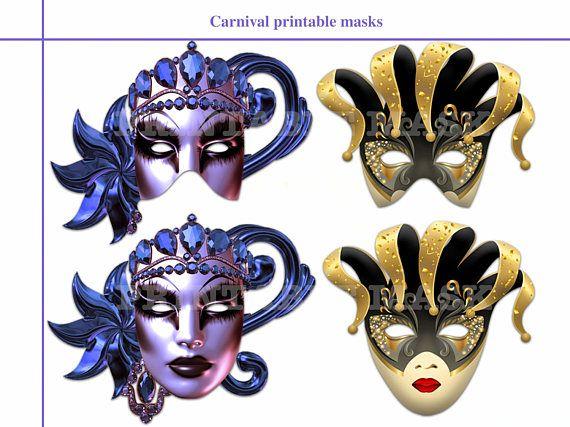 Unique Carnival Printable Masks masquerade party birthday