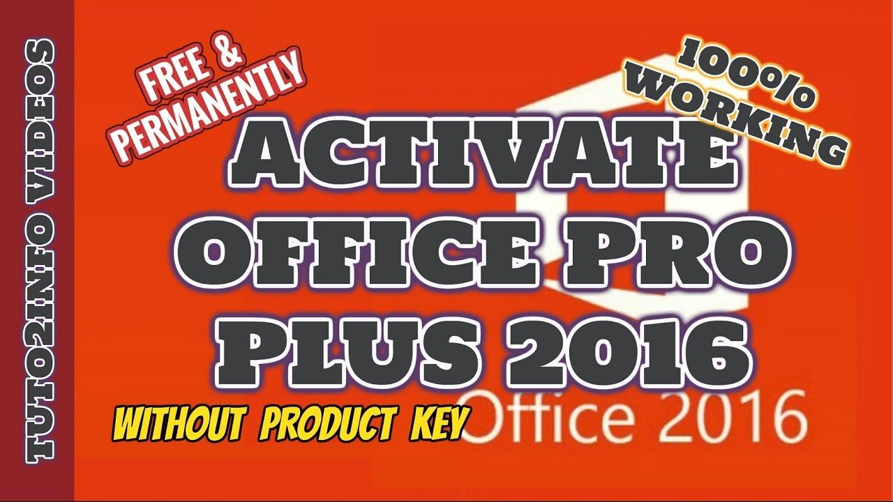 ms office 2016 free activation