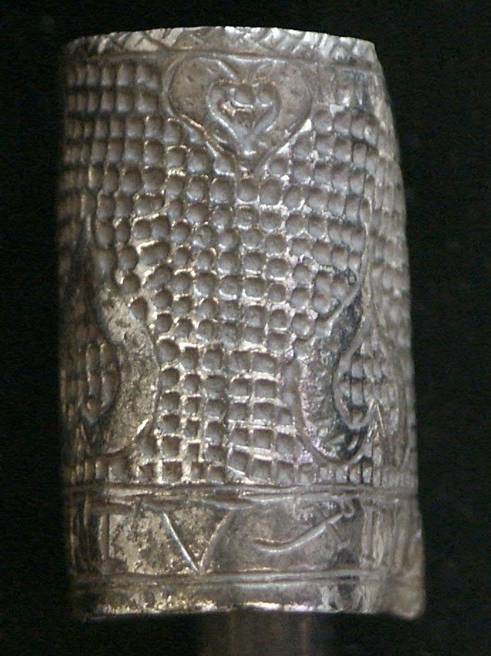 17C silver thimble with moral message: IMBRACE VERTV -- despite the heart motifs! This is NMS-BE8551 via the PAS site