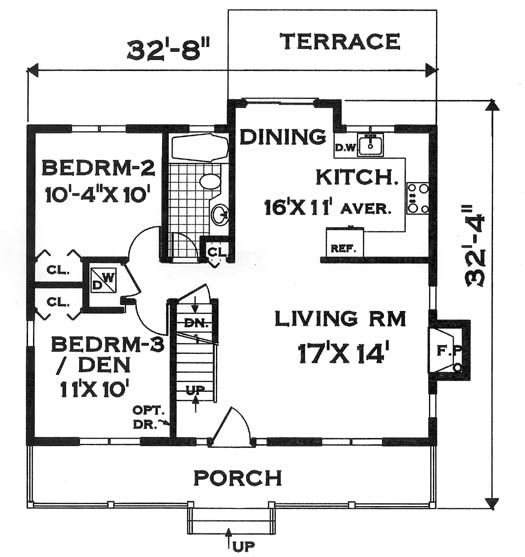 basic rectangle house floor plan first floor image of compact design house plan - Rectangle House Plans