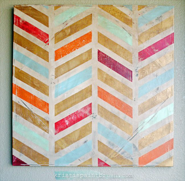 How to paint herringbone easily crafts pinterest herringbone 24 creative do it yourself wall art projects anyone can do solutioingenieria Image collections