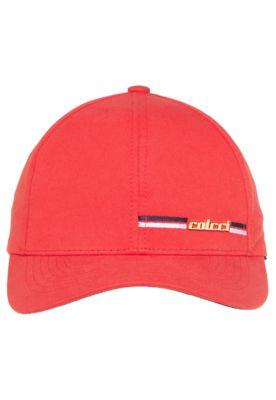 b51f0885a Boné Colcci Metal Vermelho, com ilhós em costura, tag metalizada da marca,  aba…