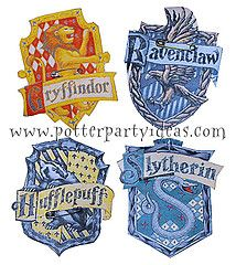 photograph regarding Harry Potter House Badges Printable titled Harry Potter Bash Absolutely free Printable Area Badges - laminate