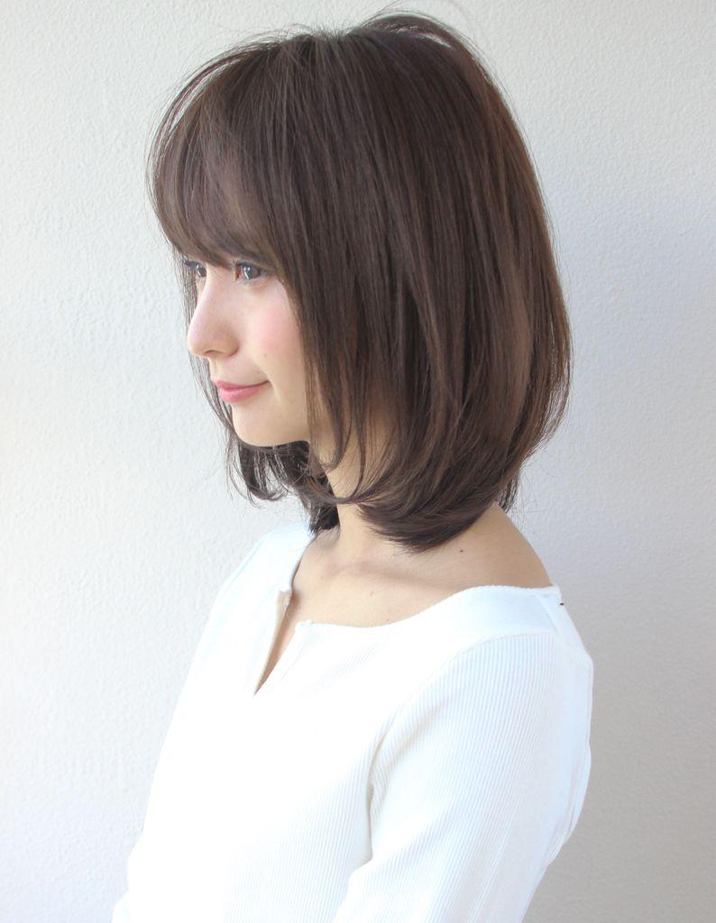 小顔大人かわいいレイヤーボブ Sh 61 ヘアカタログ 髪型 ヘアスタイル Afloat アフロート 表参道 銀座 名古屋の