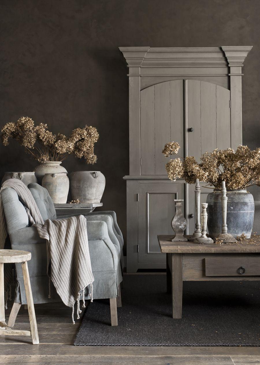 zimmer renovierung und dekoration schoner wohnen landhausstil wohnzimmer, oud houten meubelen | hoffz interieur www.twoonhuis.nl | vintage, Innenarchitektur