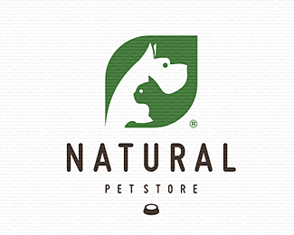 Natural Pet Store Pet Logo Design Logo Branding Identity Logo Design
