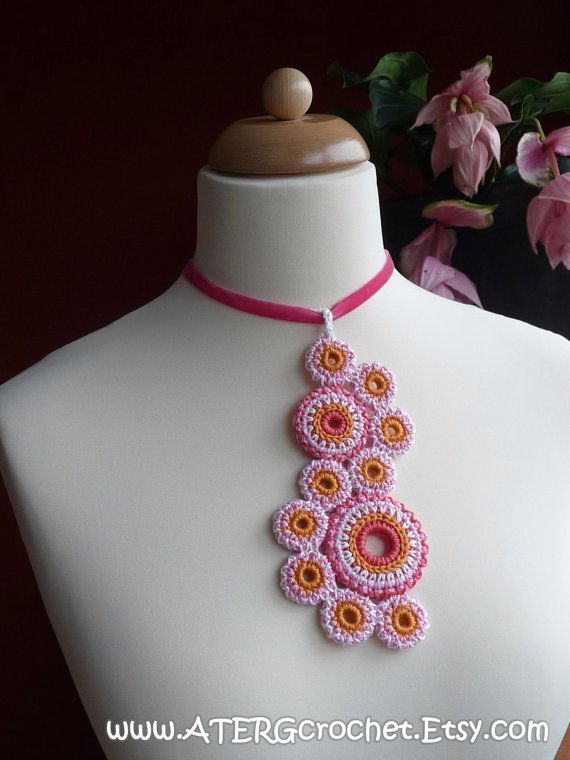 Crochet pattern NECKLACE \'circles of life\' by ATERGcrochet | crochet ...