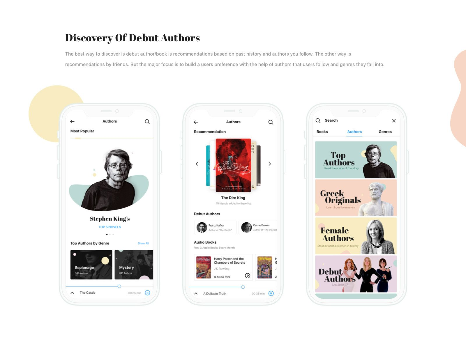 Reader book discovery app on behance
