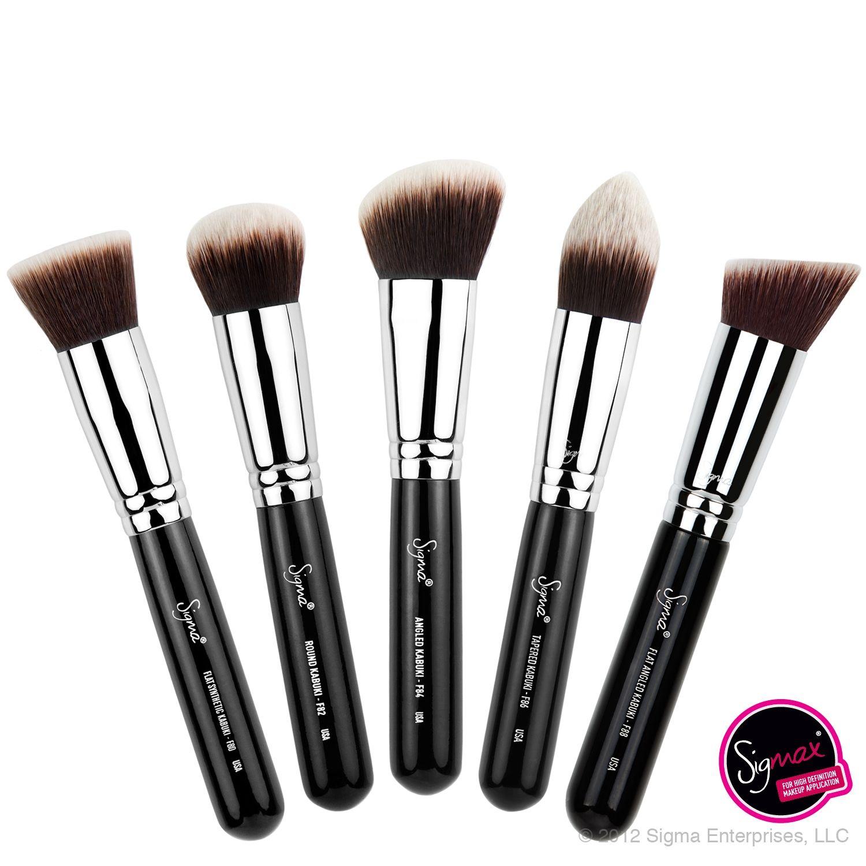 Sigma Synthetic Kabuki Kit 5 brushes Flawless makeup