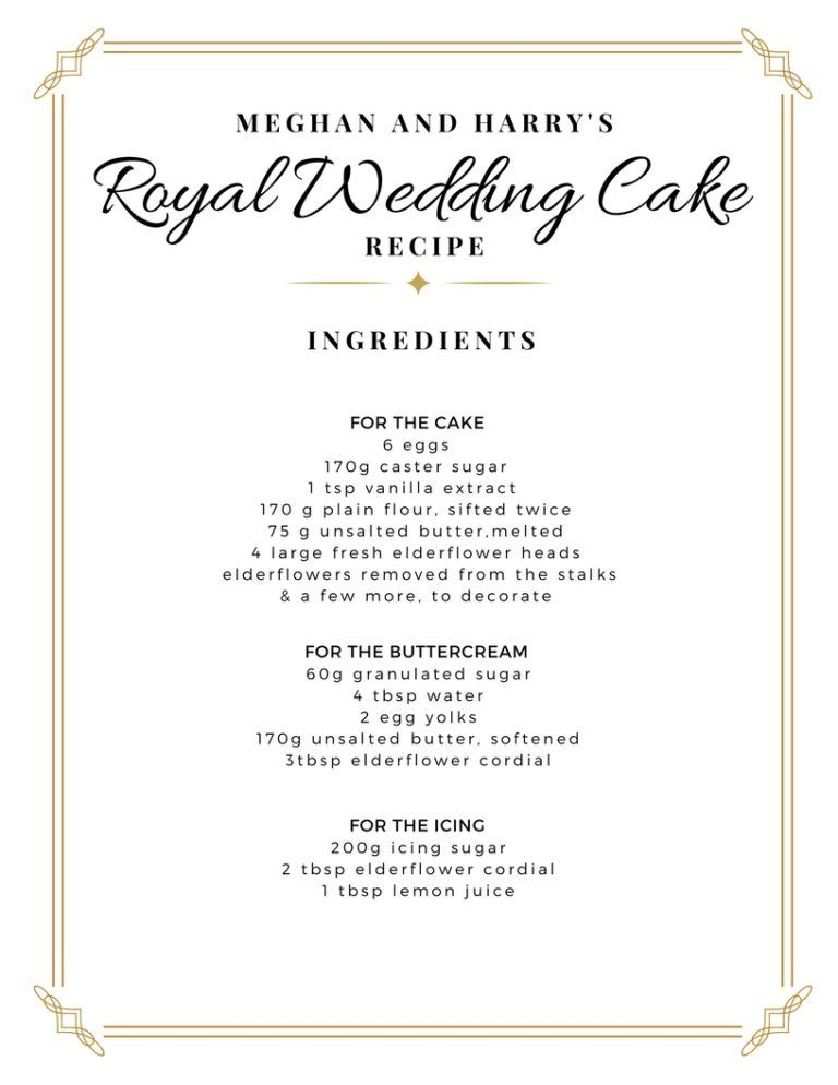 Royal Wedding Recipe Wedding Cake Meghan Harry The Sweet Life In