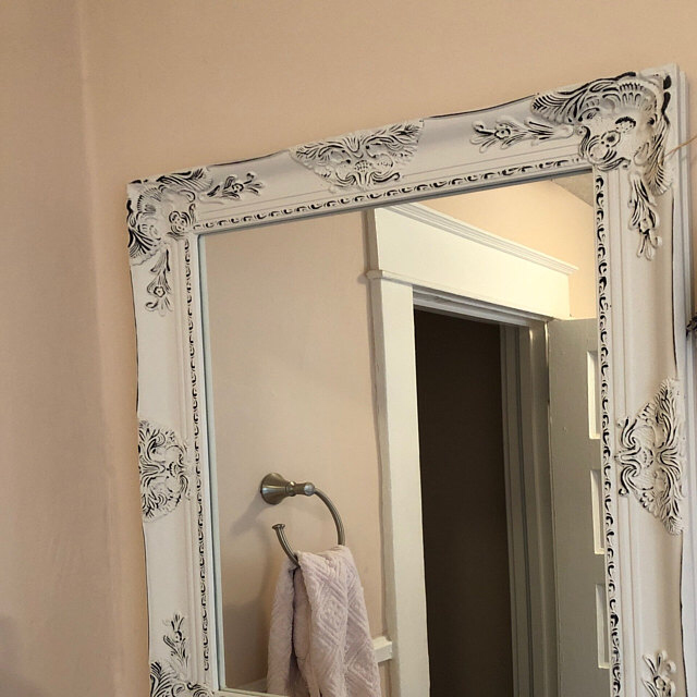 Bathroom Vanity French Farmhouse Mirror Distressed Grey Mirror