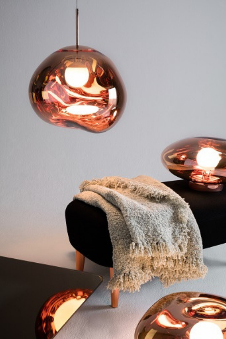 Tom Dixon Melt Mini Pendant Copper Diy Pendant Light Modern Pendant Light Pendant Lighting