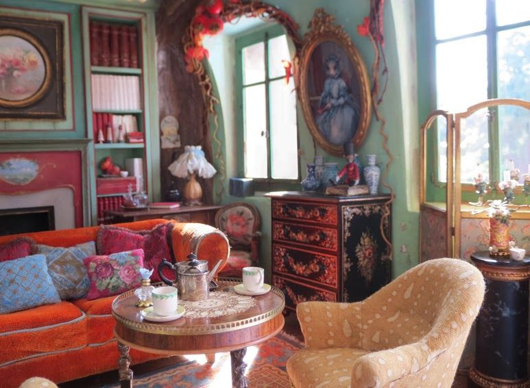 I ADORE this remarkeably realistic room from NINETTE & CO