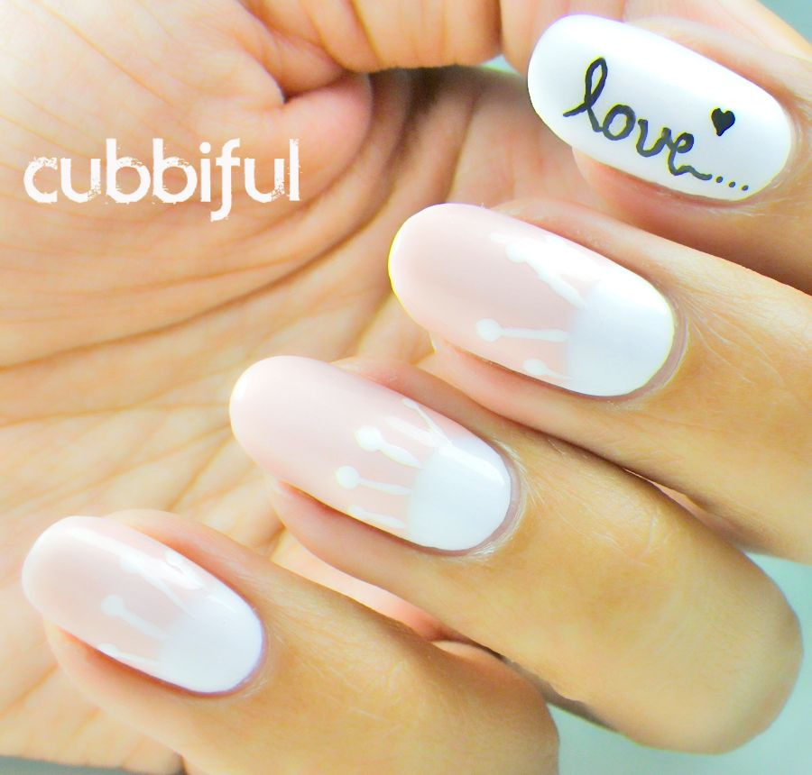 How To Draw The Word Love On White Gelish Nails Google Search
