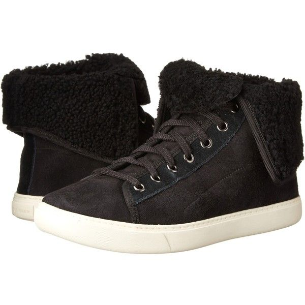 Cole Haan Raven Hightop Sneaker (Black Shearling) Women's Lace up... (