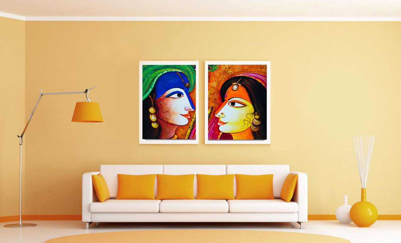 radha krishna abstract painting - Google Search | Decorations ...