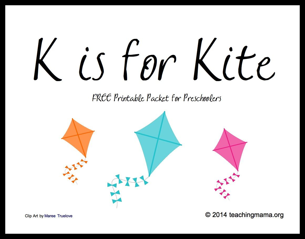 K Is For Kite Letter K Printables