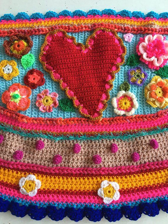 Crochet shawl crochet wrap shawl scarf ibizastyle bohemian ...