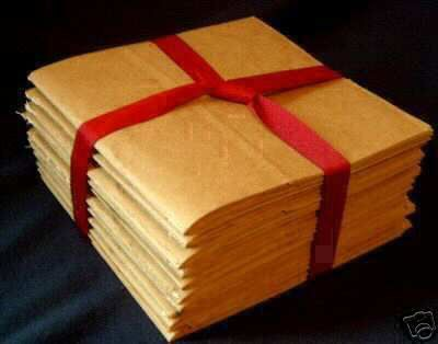 8x8 SEWN  paper bag scrapbook albums//piecing 8 books