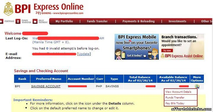 BPI accountholders letu0027s GO GREEN and save the papers You can - sample bank statement