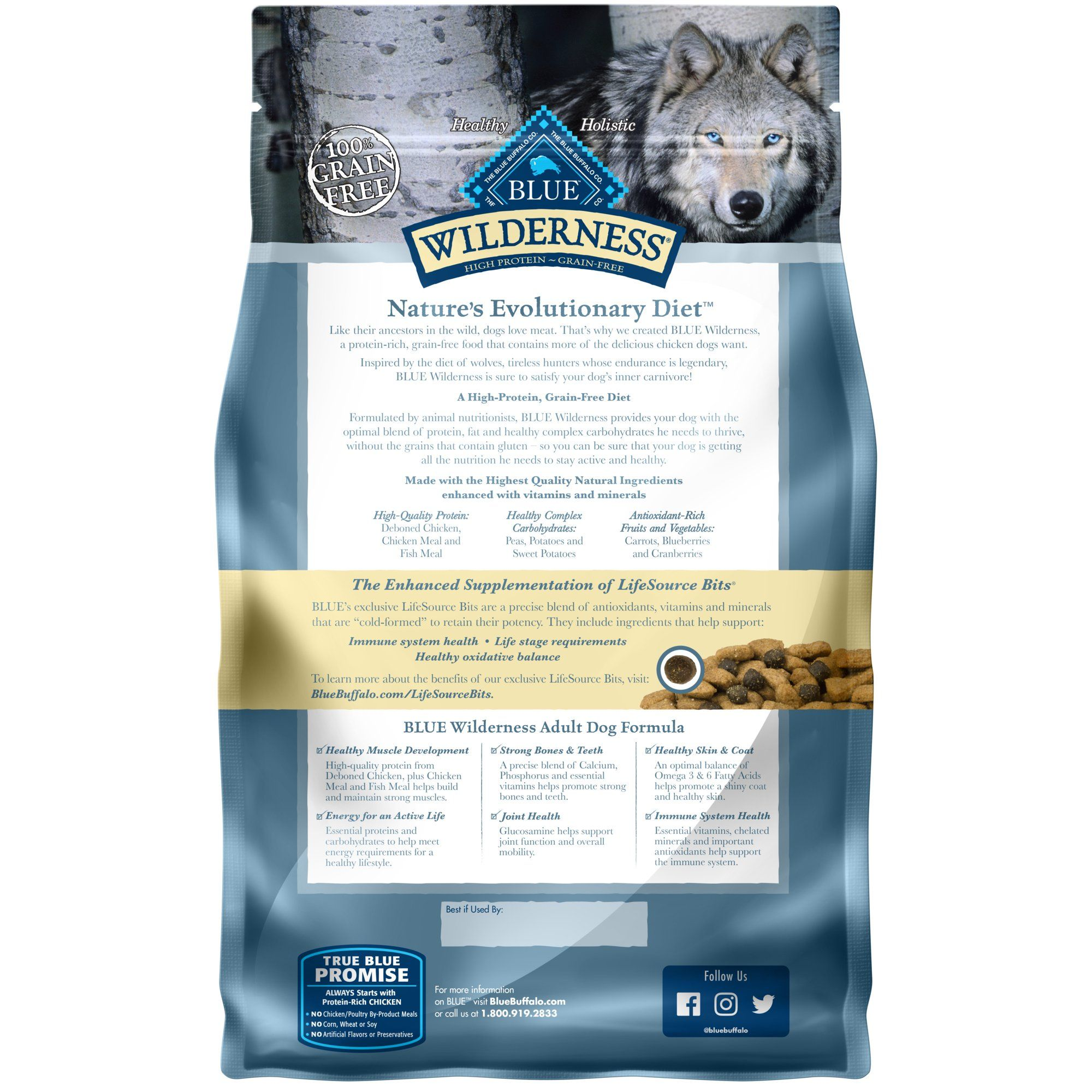 Blue Buffalo Blue Wilderness Adult Chicken Recipe Dry Dog Food