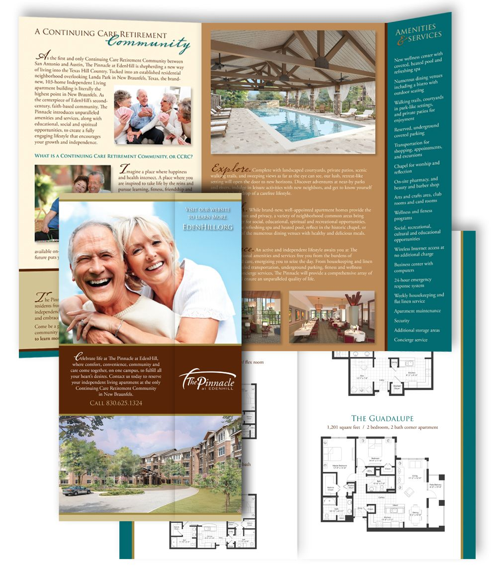 Senior Care & Retirement Living Brochure Design