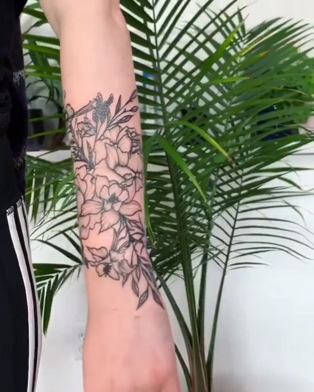 Photo of State flower tattoos by Samantha Lewis