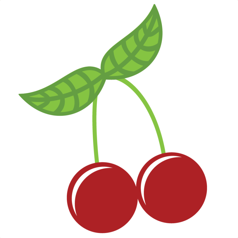 Cherries SVG file for scrapbooking cute cvg cuts for scrapbooks ...
