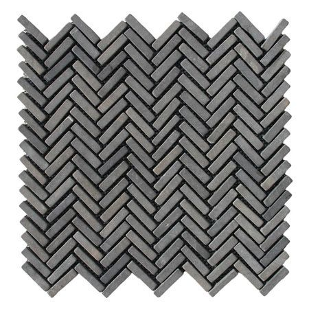Minimalist Show black chevron stone mosaic tile Idea - Beautiful black mosaic tile Trending