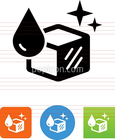 Water Drop And Ice Cube Vector Icon Vector Icons Bee Icon Icon