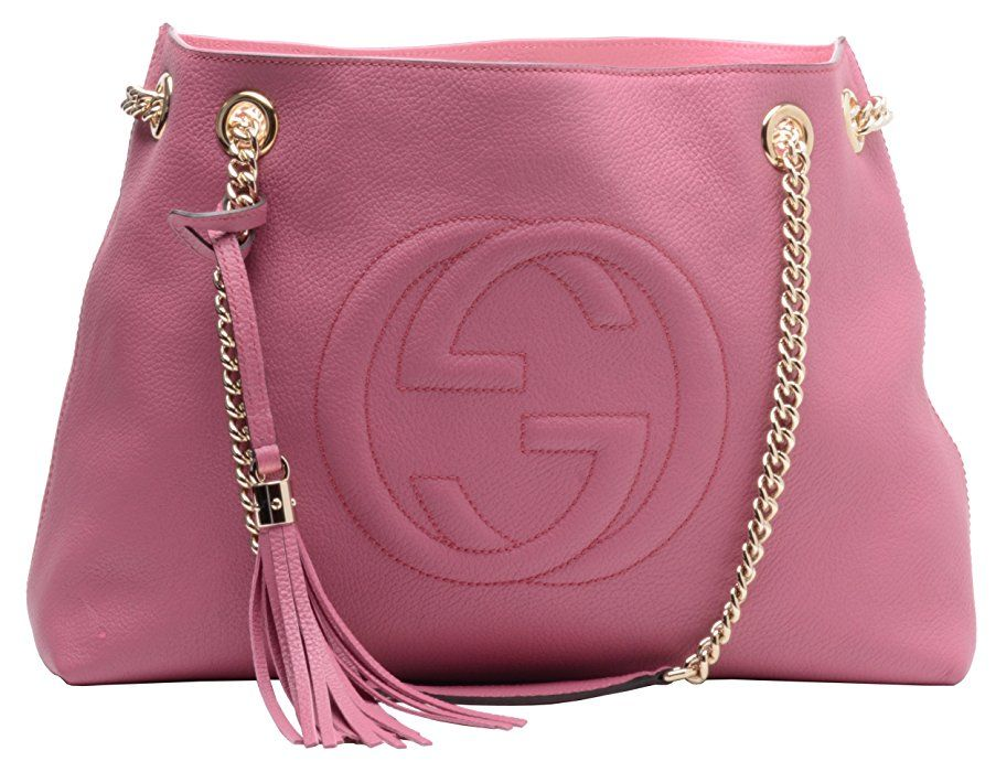 28fbb26380e Gucci Soho Leather Chain Shoulder Handbag Dusty Rose