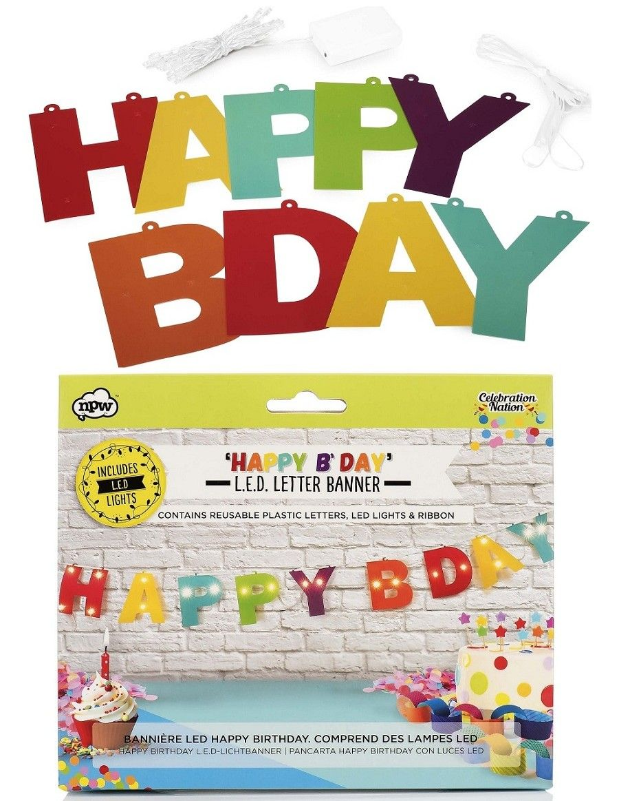 Celebration Nation L E D Happy Birthday Banner Available At Alwaysfits Com Happy Birthday Banners Fun Stickers Birthday Banner