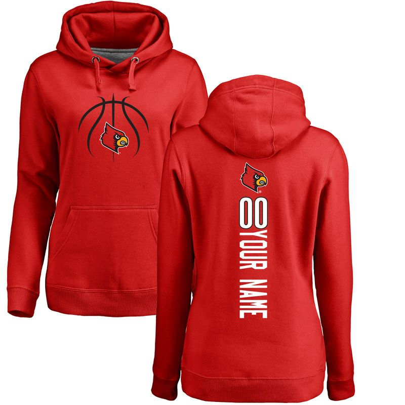 1c5df01a35f Louisville Cardinals Women s Basketball Personalized Backer Pullover Hoodie  - Red