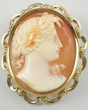 8f570fb9a Cameo Jewelry - Exceptional large goose egg sized gold mounted Victorian carnelian  shell antique cameo brooch.