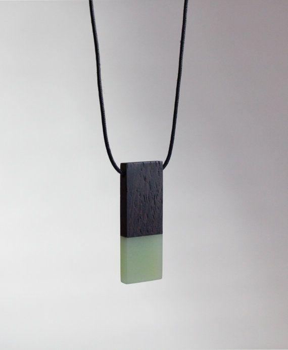 Resin wood necklace, Epoxy resin, Wenge, Resin Jewellery, Wood Jewellery, Gift, Handmade, Bespoke