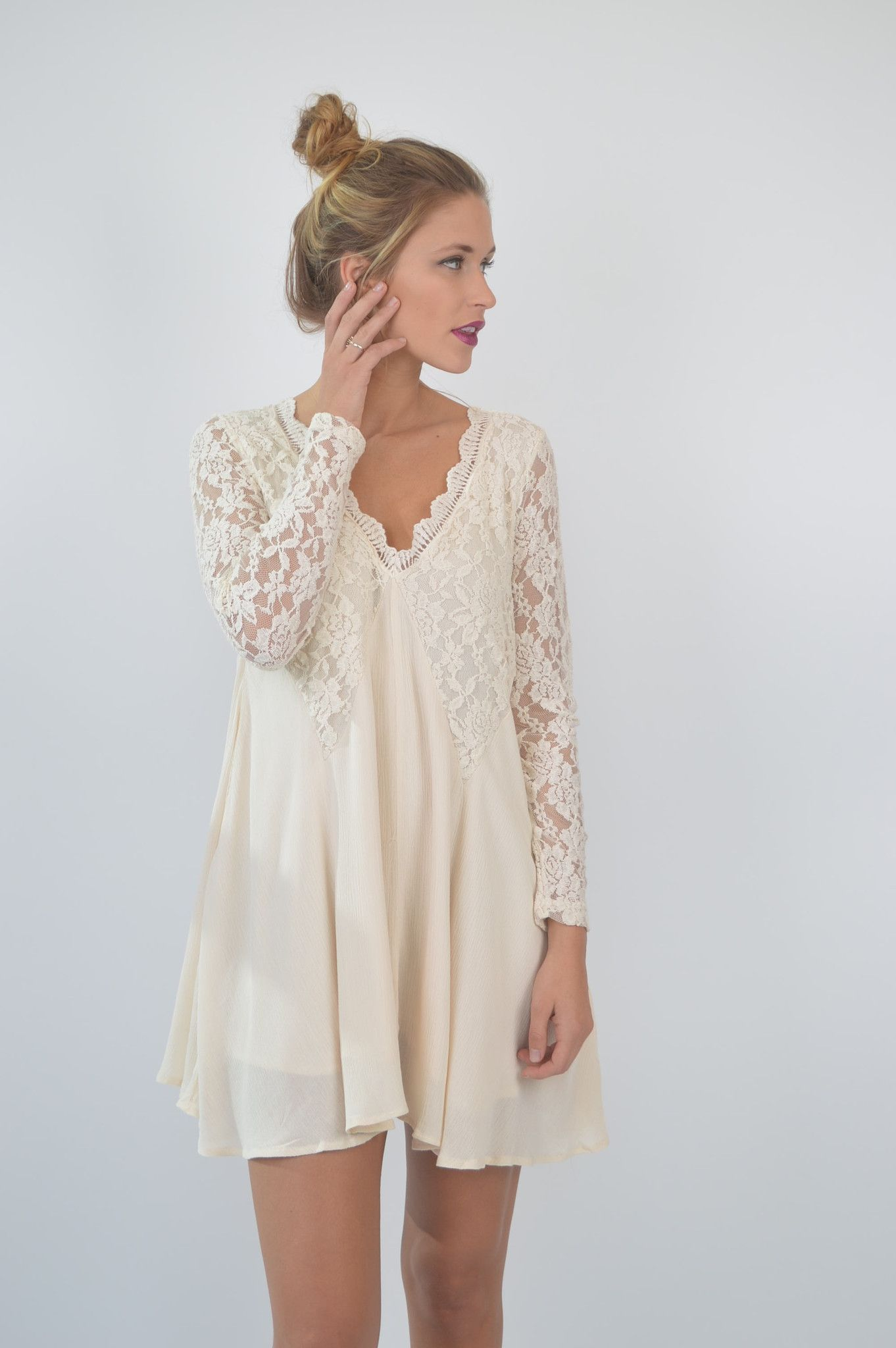 Ivory Lace Boho Dress | Foi Clothing | Beautifully Boho | Perfect ...