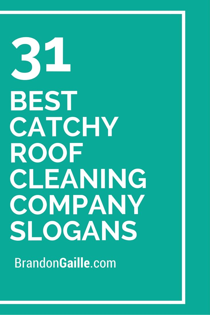 33 best catchy roof cleaning company slogans