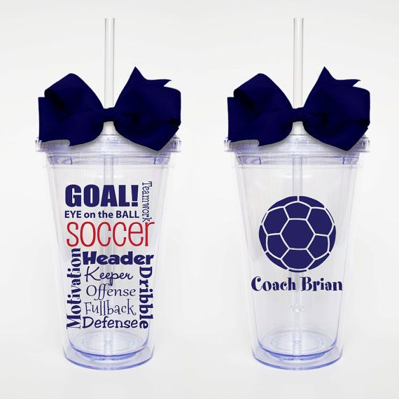 Soccer Subway Art  Acrylic Tumbler Personalized Cup