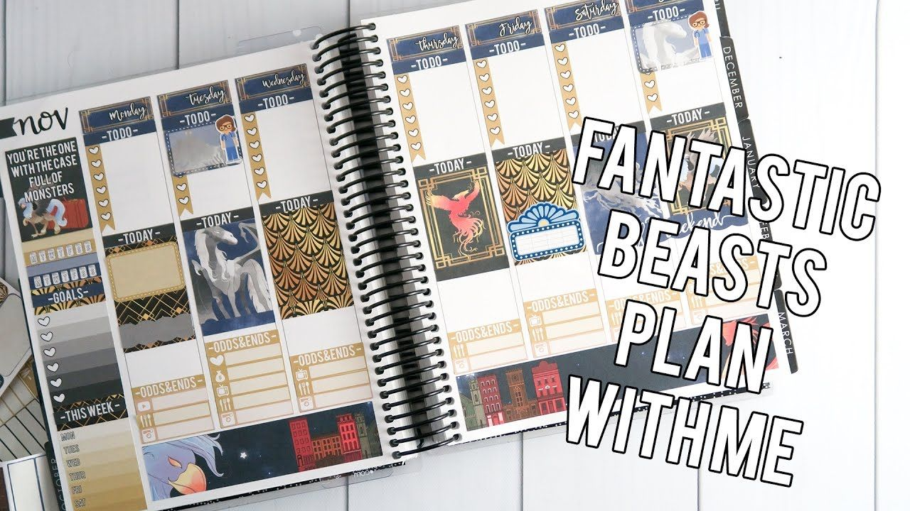 Fantastic Beasts White Space Plan With Me