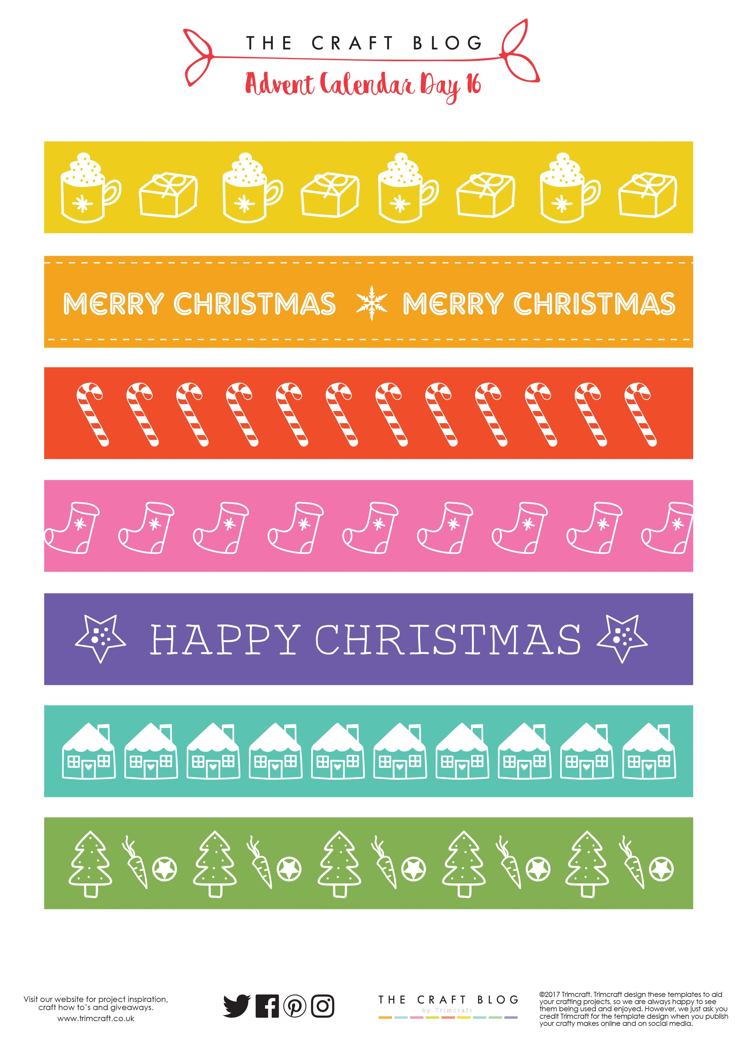 Christmas Paper Chains Uk.Advent Calendar Day 16 Free Christmas Paper Chain Template