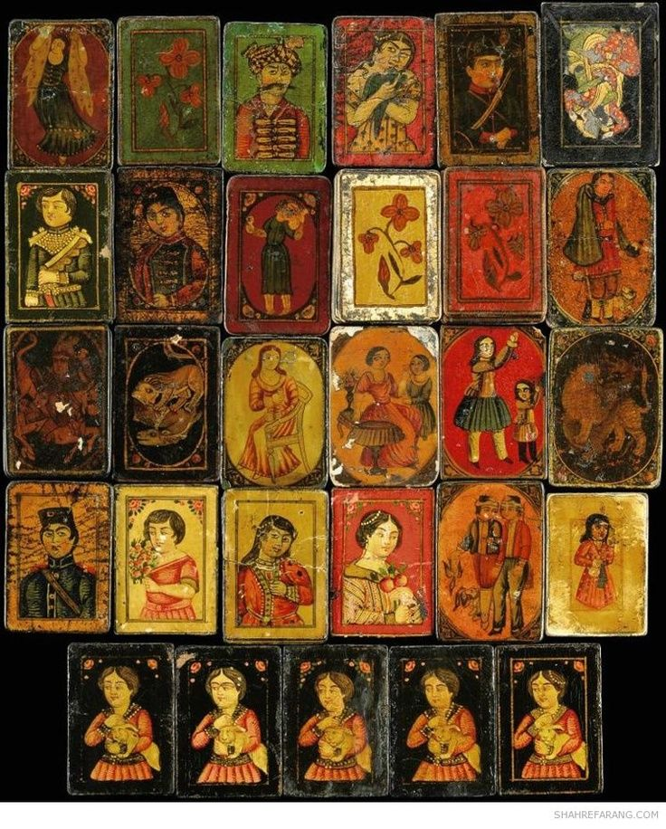 Ganjifa is a card game or type of playing cards that are