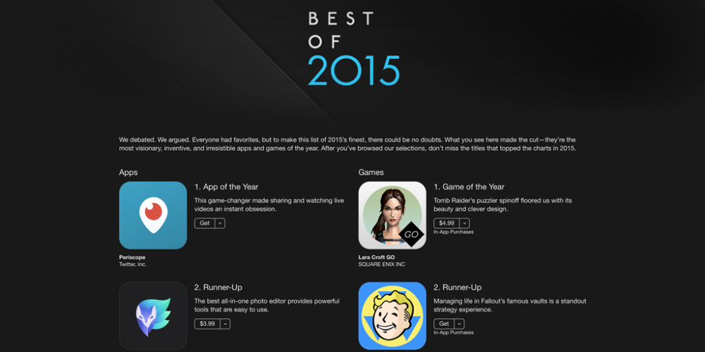 Apple names its iPhone Apps of the Year, shares