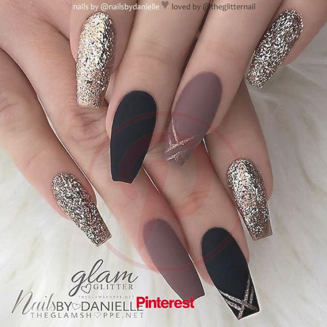 77 Trendy Brown Nail Art Designs and Ideas in 2020 | Classy nail designs, Coffin nails matte, Black coffin nails #beauty,#makeup,#fashion,#nails,#2020
